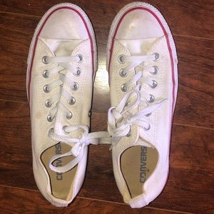 Women's White Chuck Taylor All Star Low Top Size 8